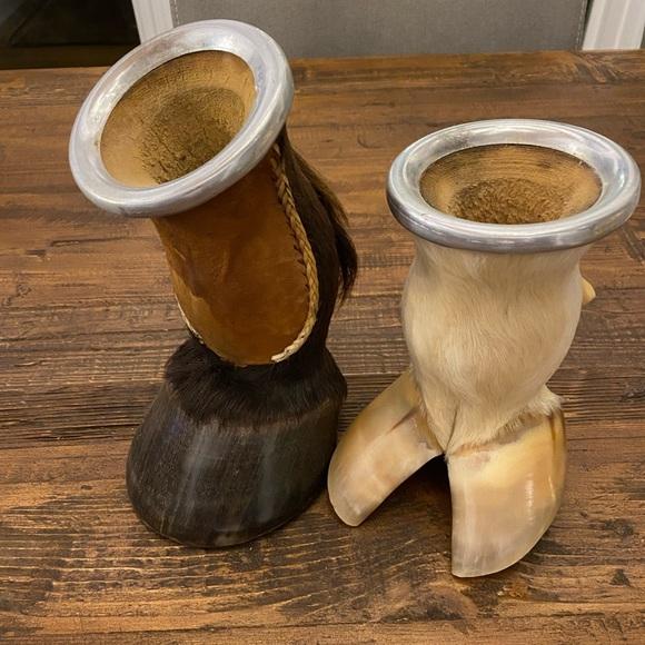 Yerba Mate Hoof cups set of 2 cow & horse hoofs